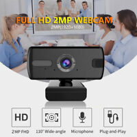 USB Web Camera 1080P 360° Webcam with Microphone,Video for computer  Laptop PC *