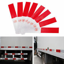 5X Red-White Auto Car Truck Reflector Sticker Safety Warning Tape Strip 4x14cm