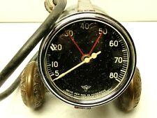 1950'S VINTAGE WINGS CURVED GLASS STEWART WARNER ELECTRICAL TACHOMETER 8K RPM