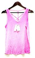 Pink Rose Vintage Women's Size Large Top Sleeveless Palm Berry Pink