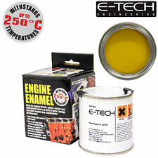 E-Tech YELLOW Heat Resistant Engine Enamel Paint 250ml **NEW** High Temp