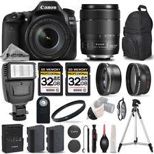 Canon EOS 90D DSLR Camera + 18-135mm IS USM - 3 LENS KIT + FLASH - 64GB BUNDLE
