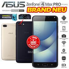 Neu Ohne Simlock ASUS Zenfone 4 Max Pro ZC554KL Schwarz Gold 4G Android Handy