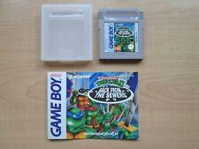 Nintendo GAME BOY - Teenage Mutant Ninja Turtles II  - Manual INCLUDED