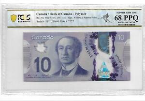 CANADA 2013 10 DOLLARS P#107c PCGS 68 SUPERB GEM UNC OPQ NOT PMG
