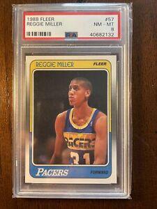 1988 Fleer Basketball Reggie Miller ROOKIE RC #57 PSA 8 NM-MT