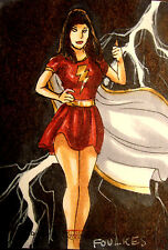DC Comics The Women Of Legend Sketch Card By Chris Foulkes