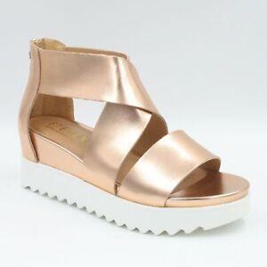 Steven by Steve Madden Women Sandals Kea Rose Gold Leather Natural Comfort