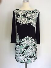 BNWT STAR BY JULIEN MACDONALD BLACK,GREEN & WHITE PRINT TUNIC TOP SIZE 10