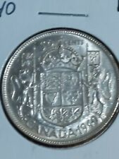 "➡➡1940 CANADA SILVER 50 CENTS Raised 4 DIE Example in ""40"" King George VI"