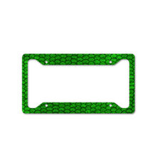 Green Dragon Scales Auto Car License Plate Frame Tag Holder 4 Hole