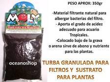 TURBA GRANULADA 350gr filtrante filtro ph abono nutriente sustrato grava acuario