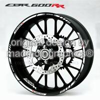 CBR600RR motorcycle wheel decals rim stickers laminated Honda cbr 600RR stripes