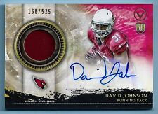 DAVID JOHNSON 2015 TOPPS VALOR SHIELD OF HONOR RC PATCH AUTOGRAPH AUTO /525