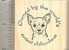 Owned by world's cutest Chihuahua Rubber Stamp F6704