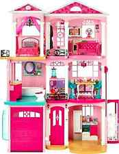 Dreamhouse Barbie Story Doll  house Mattel Furniture Furnished Town House Toy