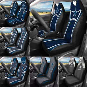 Set of Two Dallas Cowboys Car Front Seat Covers Universal Auto Cushion Protector