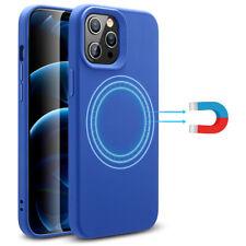 ESR Magnetic Case for iPhone 12/ 12 Pro/ Pro Max/ 12 Mini, Liquid Silicone Cover