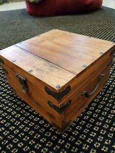 Collectible Medium Size Timber hinged Storage Box