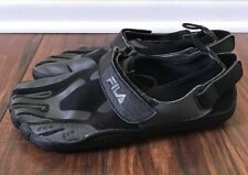 Fila Skele-Toes Black gray EZSLIDE running sneaker mens 8 skeletoes  strap