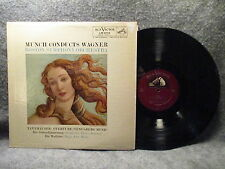 33 RPM LP Record Munch Conducts Wagner Boston Symphony Orchestra RCA LM-2119