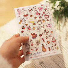 Molang Sticker Set Ver.3 Diary Planner Book Scrapbook Cute Rabbit Anime Decor