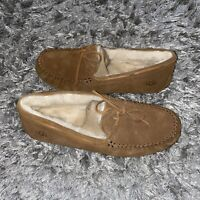 UGG MOC BROWN SUEDE/ SHEEPSKIN SLIPPERS SHOES, Men's  US 12 UK 11