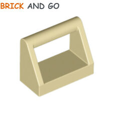 beige, tan Plate 1x2 Handle On Side NEUF NEW 6 x LEGO 2540 Plaque Poignée