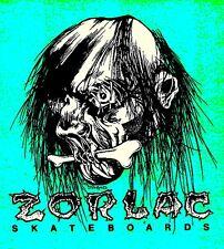 Vintage style Zorlac Skateboard STICKER. Pushead, guitar metallica 2.75x2.5 inch