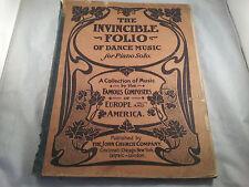 RARE The Invincible Folio of Dance Music for Piana Solo, 1902 John Church Co.