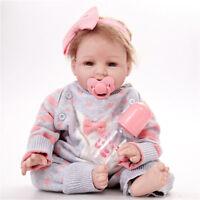 22'' Newborn Silicone Handmade Realistic Reborn Girl Body Dolls Rebor