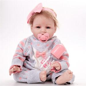 22'' Newborn Silicone Handmade Realistic Reborn Girl Body Dolls Reborn