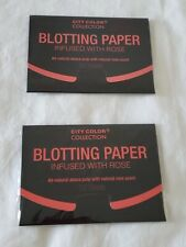 City Color Collection Oil Infused Blotting Paper Lot Of 2 Packs Of 25 Sheets