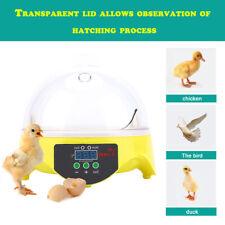 Digital 7 Egg Capacity Mini Chicken Duck Bird Hatch Incubator Tool Kit 110V BH