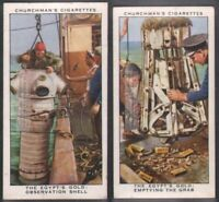 Recovery Of Gold From Wreck of SS 'Egypt' Ship Liner - Two 80 Y/O Trade Ad Cards