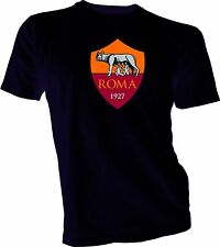A.S. Roma i Giallorossi Italy Italia Serie A Football Soccer T-Shirt NEW Black