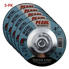 5-PK Pearl Abrasive DC4510TH Depressed Center Grinding Wheel 4-1/2 x 1/4 x 5/8
