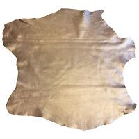 Dark Beige Genuine Leather Hide Soft Lambskin Fabric Craft Upholstery Supply 918