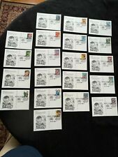 First Day Of Issue Fdc - Lot Of 20 Unaddressed Superheros Postcards - Artcraft