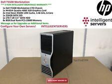 Dell T5500 Workstation 2x Xeon X5690 3.46GHz 64GB 1TB SATA 256GB SSD Quadro 4000