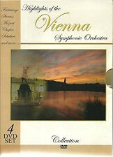 HIGHLIGHTS OF THE VIENNA SYMPHONIC ORCHESTRA - 4 DVD BOX SET - STRASS & MORE
