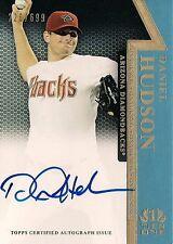 DANIEL HUDSON 2014 Topps Tier 1 Authentic Autograph / 699 Arizona Diamondbacks