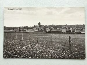 Kirkwall view from the south-west (Valentine) postcard Orkney