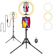 "Ring Light with Tripod Stand Phone Holder, 10"" Selfie Ring Light for Phone with"