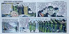 Steve Roper & Mike Nomad - Neo Nazi group, color Sunday comic page Feb. 13, 1972