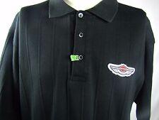 Harley Davidson Mens Polo Shirt Golf Black Large 1903-2003 100 USA NICE