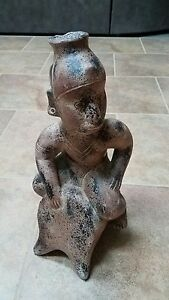 1960s Vintage Terra Cotta Pottery Tribal Sculpture Statue RARE Amazing HEAVY