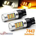 2pc 7443 7440 7444 Led Turn Signal Switchback Whiteamber Drl Parking Light Bulb