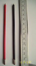 PAIR  AVO 8 Multimeter Red & Black Plated Insulated Probes, Hard & Non Magnetic
