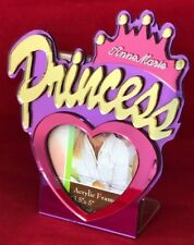 Princess With Crown Picture Frame Personalized Free Engraved Frame and Stand 4x6